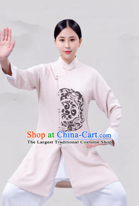 Chinese Traditional Martial Arts Competition White Costume Tai Ji Kung Fu Training Clothing for Women
