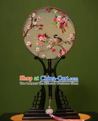 Handmade Chinese Traditional Double Side Silk Round Fan Classical Embroidered Palace Fans for Women