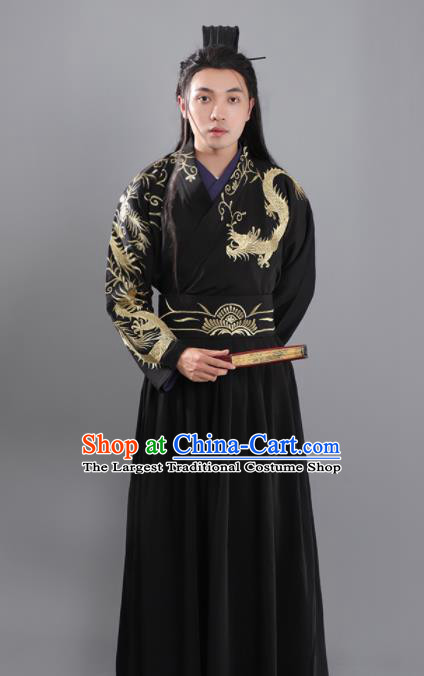 Chinese Ancient Prince Hanfu Clothing Tang Dynasty Swordsman Nobility Childe Historical Costume for Men
