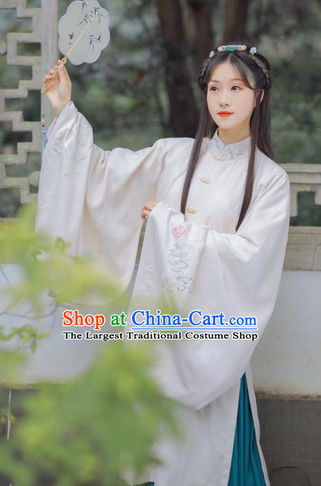 Chinese Ancient Court Lady Embroidered Hanfu Dress Ming Dynasty Princess Historical Costume for Women