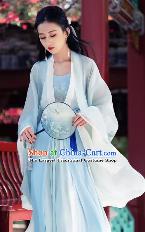 Ancient Chinese Song Dynasty Historical Costume Traditional Nobility Lady Embroidered Hanfu Dress for Women
