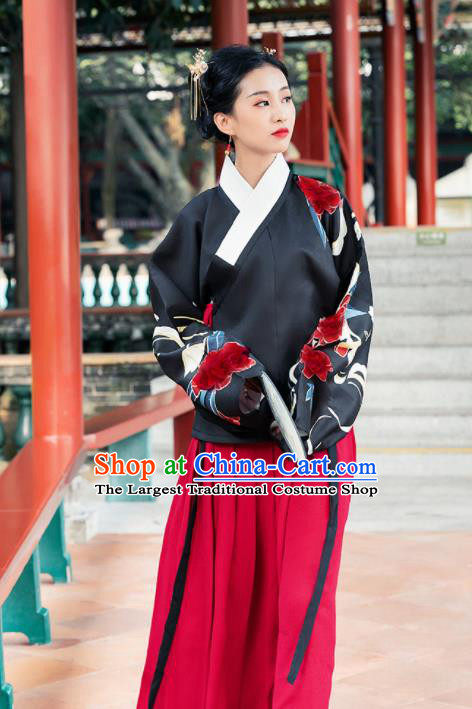Ancient Chinese Ming Dynasty Nobility Lady Historical Costume Traditional Palace Hanfu Dress for Women