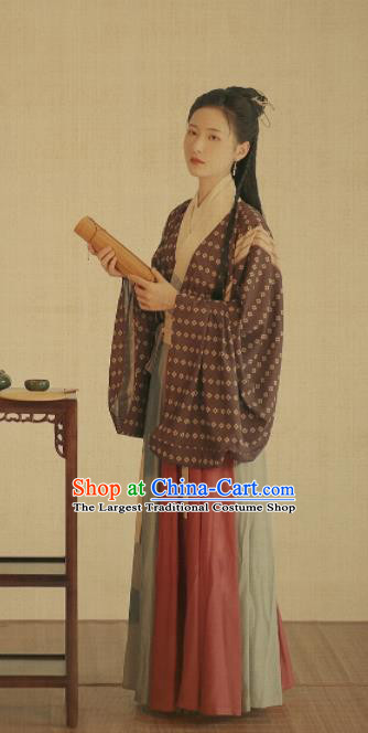 Chinese Ancient Drama Jin Dynasty Palace Princess Hanfu Dress Traditional Court Lady Historical Costume for Women