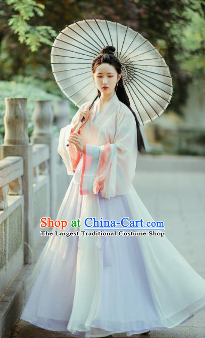 Ancient Chinese Jin Dynasty Palace Princess Hanfu Dress Traditional Court Historical Costume for Women