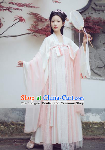 Ancient Chinese Tang Dynasty Princess Hanfu Dress Traditional Palace Court Historical Costume for Women