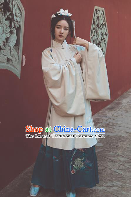 Chinese Ming Dynasty Palace Princess Hanfu Dress Traditional Ancient Dowager Embroidered Historical Costume for Women