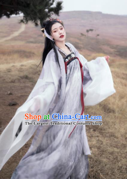 Asian Chinese Tang Dynasty Princess Historical Costume Ancient Court Lady Traditional Hanfu Dress for Women