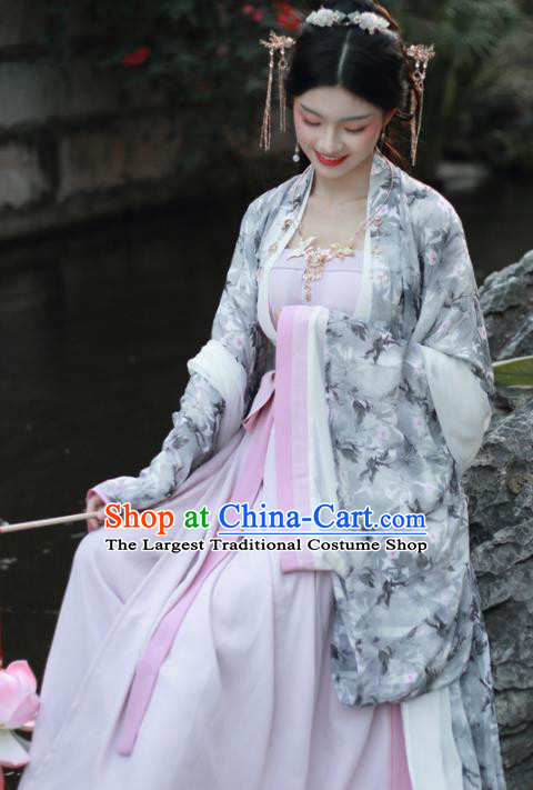 Chinese Traditional Ming Dynasty Imperial Consort Historical Costume Ancient Court Hanfu Dress for Women