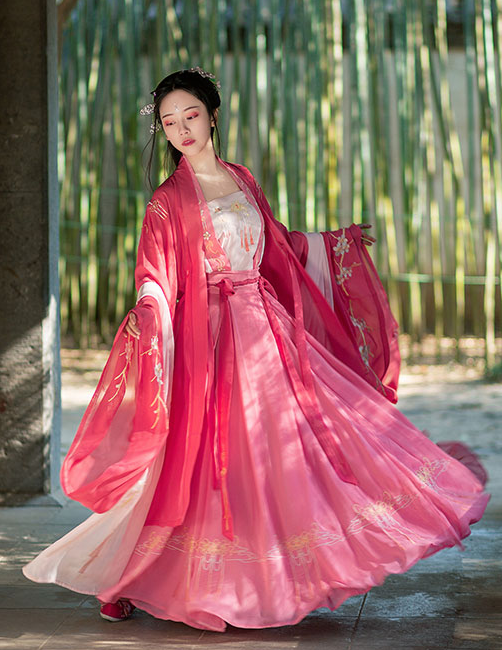 Traditional Chinese Tang Dynasty Imperial Consort Hanfu Dress Ancient Court Embroidered Historical Costume for Women