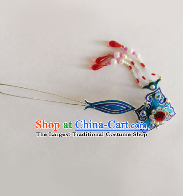 Chinese Ancient Court Princess Hairpins Tassel Hair Clip Traditional Beijing Opera Diva Hair Accessories for Adults