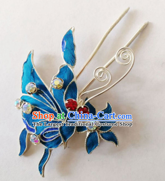 Chinese Ancient Court Princess Hairpins Butterfly Hair Clip Traditional Beijing Opera Diva Hair Accessories for Adults
