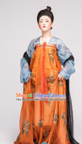 Chinese Ancient Tang Dynasty Imperial Consort Hanfu Dress Traditional Court Lady Replica Costume for Women