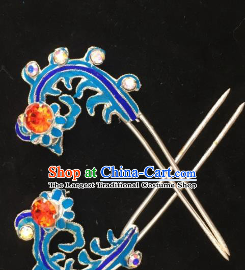 Chinese Ancient Princess Phoenix Hairpins Hair Clip Traditional Beijing Opera Diva Headwear Hair Accessories for Adults
