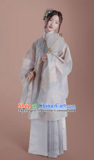 Chinese Traditional Ming Dynasty Nobility Lady Hanfu Dress Ancient Court Princess Replica Costume for Women