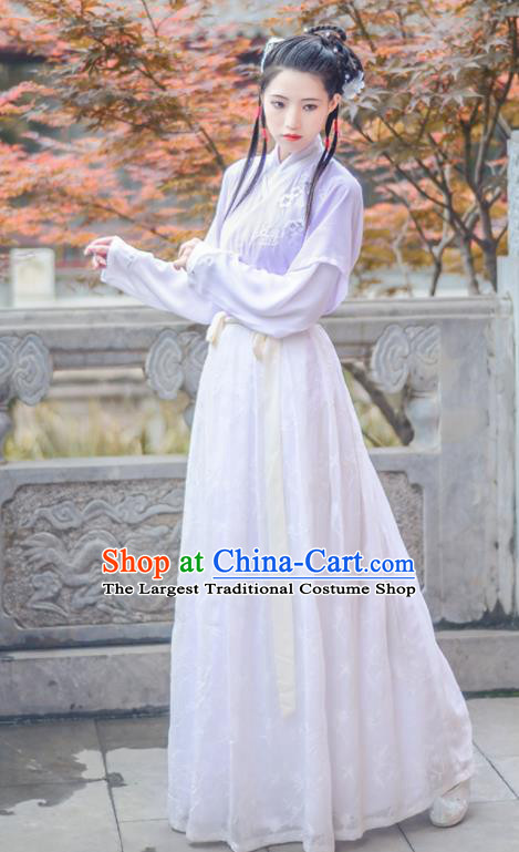 Chinese Ancient Ming Dynasty Nobility Lady Hanfu Dress Antique Traditional Court Princess Historical Costume for Women