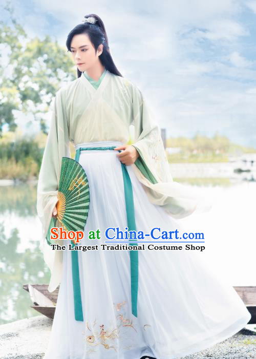 Chinese Ancient Prince Hanfu Clothing Antique Traditional Southern and Northern Dynasties Swordsman Historical Costume for Men