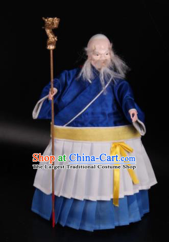 Traditional Chinese Handmade Old Men Puppet Marionette Puppets String Puppet Wooden Image Arts Collectibles