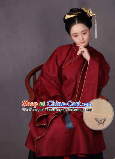 Chinese Traditional Ming Dynasty Imperial Consort Hanfu Dress Ancient Court Countess Replica Costumes for Women