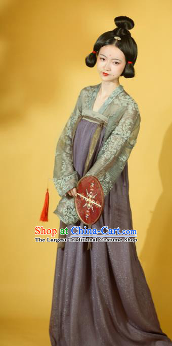 Chinese Ancient Drama Court Lady Hanfu Dress Traditional Tang Dynasty Palace Princess Replica Costumes for Women