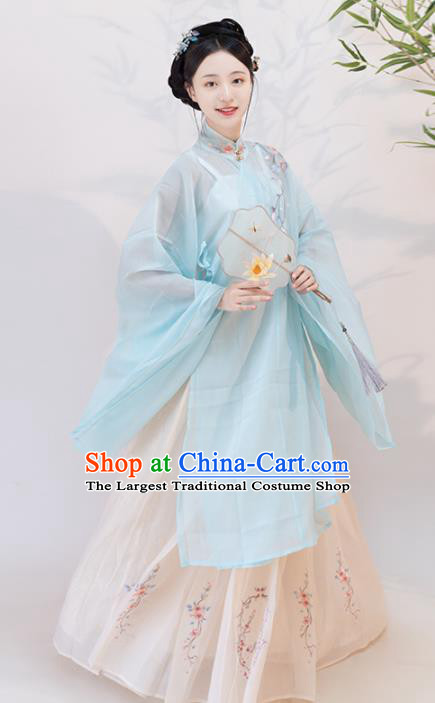 Chinese Ancient Young Mistress Hanfu Dress Traditional Ming Dynasty Imperial Concubine Replica Costumes for Women