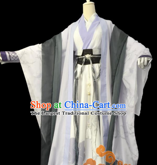Custom Chinese Ancient Cosplay Knight Taoist Priest Clothing Traditional Swordsman Royal Highness Costume for Men
