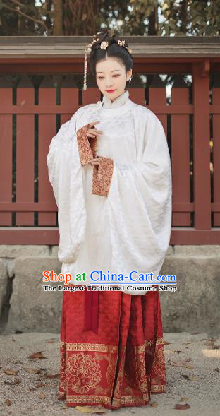 Traditional Chinese Ming Dynasty Imperial Consort Embroidered Hanfu Dress Ancient Court Countess Replica Costumes for Women