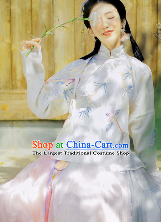 Traditional Chinese Ming Dynasty Hanfu Dress Ancient Nobility Lady Replica Costumes for Women