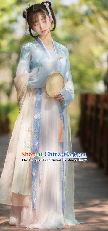 Traditional Chinese Song Dynasty Court Maid Hanfu Dress Ancient Nobility Lady Replica Costumes for Women