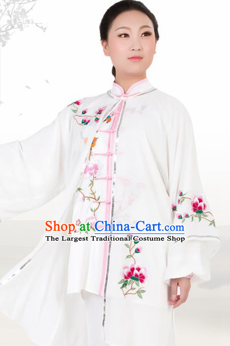 Chinese Traditional Martial Arts Embroidered Plum Costume Best Kung Fu Competition Tai Chi Training Clothing for Women