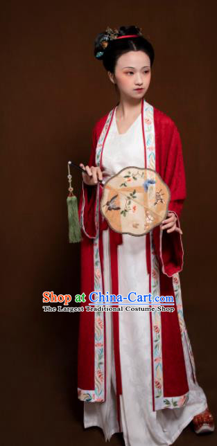 Traditional Chinese Song Dynasty Aristocratic Lady Embroidered Hanfu Dress Ancient Drama Dowager Replica Costumes for Women