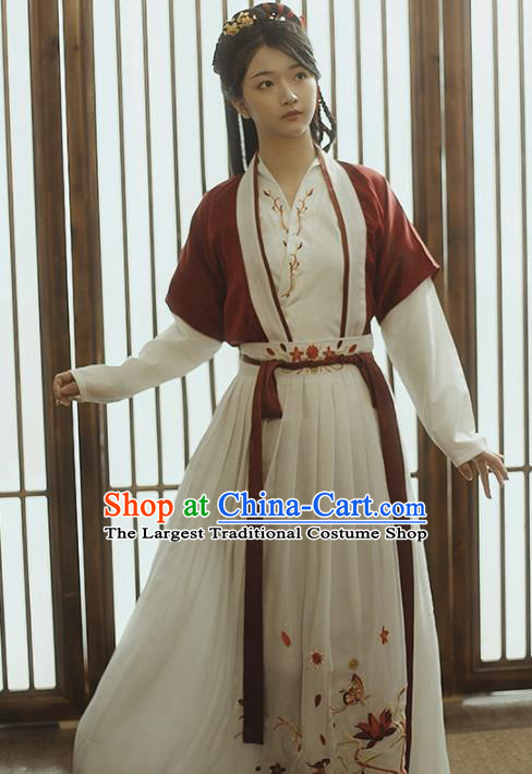 Chinese Ancient Female Civilian Hanfu Dress Traditional Song Dynasty Young Lady Costumes for Women