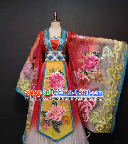 China Ancient Court Woman Hanfu Dress Traditional Drama Tang Dynasty Imperial Consort Costume Classical Dance Clothing