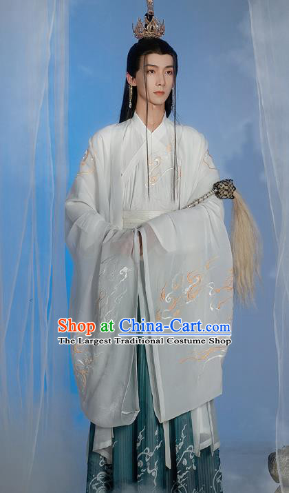 China Ancient Chivalrous Knight Apparels Traditional Ming Dynasty Swordsman Hanfu Clothing for Men