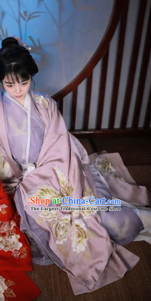 China Ancient Royal Princess Embroidered Hanfu Dress Traditional Ming Dynasty Nobility Lady Historical Costumes Full Set