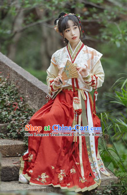 Ancient China Village Lady Costumes Traditional Song Dynasty Country Female Apparels for Women