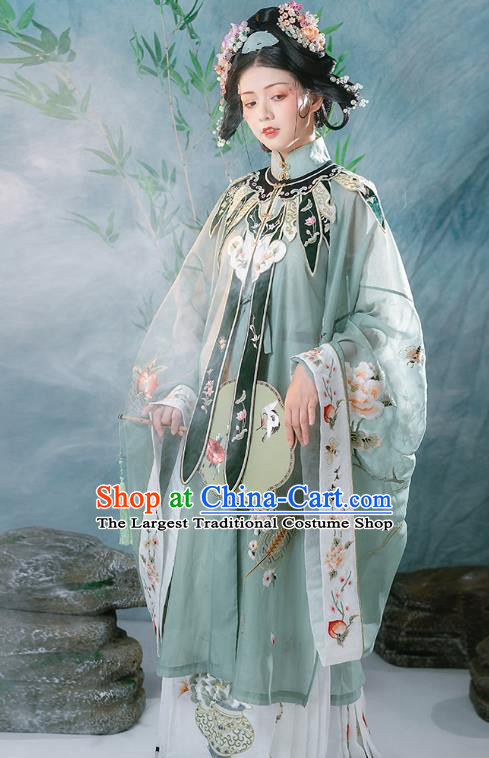 Ancient China Traditional Hanfu Clothing Traditional Ming Dynasty Court Women Embroidered Costumes