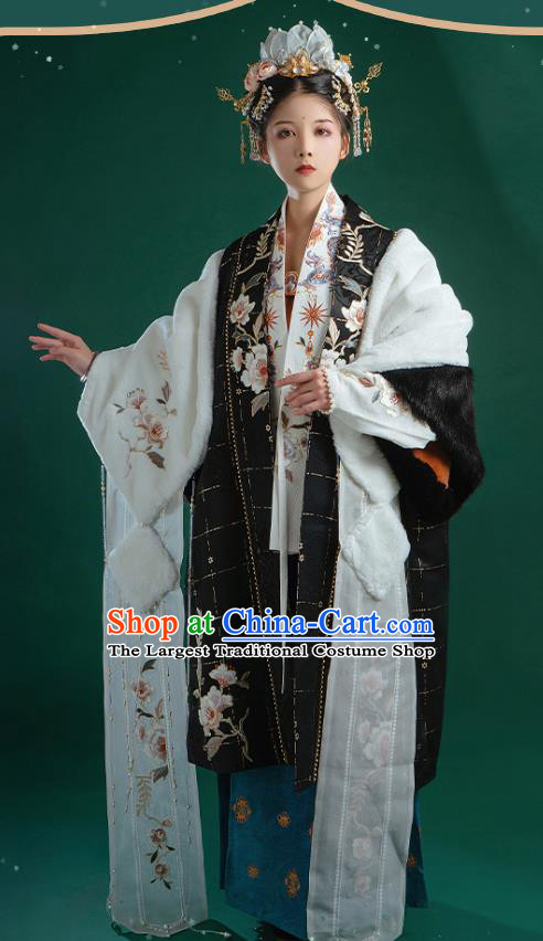 Ancient China Song Dynasty Imperial Consort Historical Costume Traditional Court Woman Hanfu Clothing Full Set