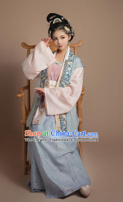 Ancient China Imperial Consort Clothing Court Hanfu Apparels Traditional Song Dynasty Historical Costumes