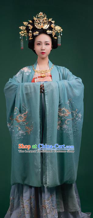 China Ancient Imperial Empress Historical Clothing Traditional Tang Dynasty Court Woman Hanfu Dress
