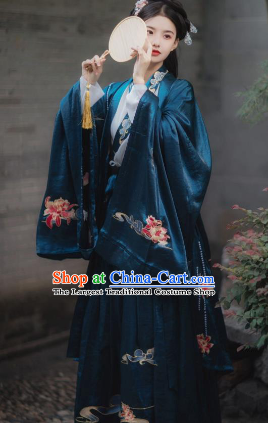 China Traditional Jin Dynasty Palace Princess Historical Clothing Ancient Imperial Infanta Hanfu Costume for Women
