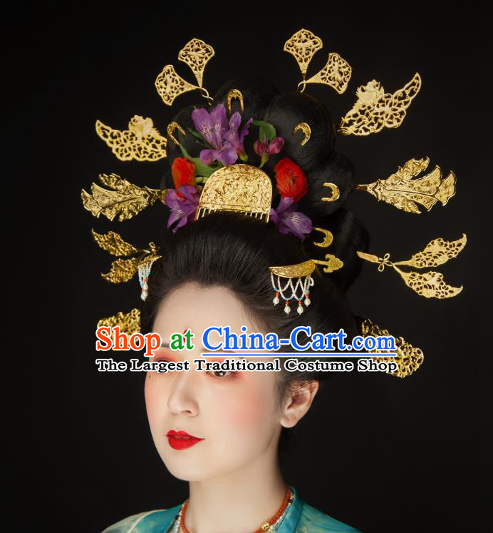 China Tang Dynasty Imperial Concubine Hairpins Ancient Court Woman Hair Accessories Complete Set