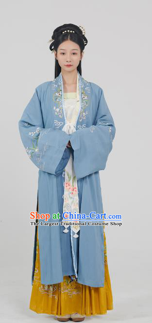 China Song Dynasty Traditional Hanfu Dress Historical Clothing Ancient Noble Lady Costumes Full Set