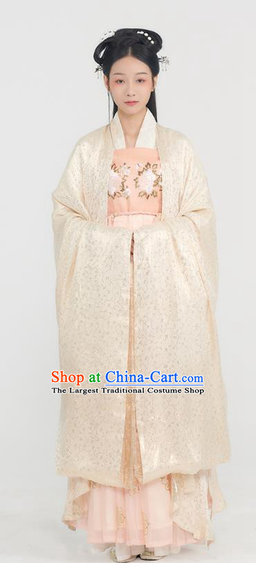 Traditional China Tang Dynasty Royal Infanta Historical Clothing Ancient Palace Princess Hanfu Dress Complete Set