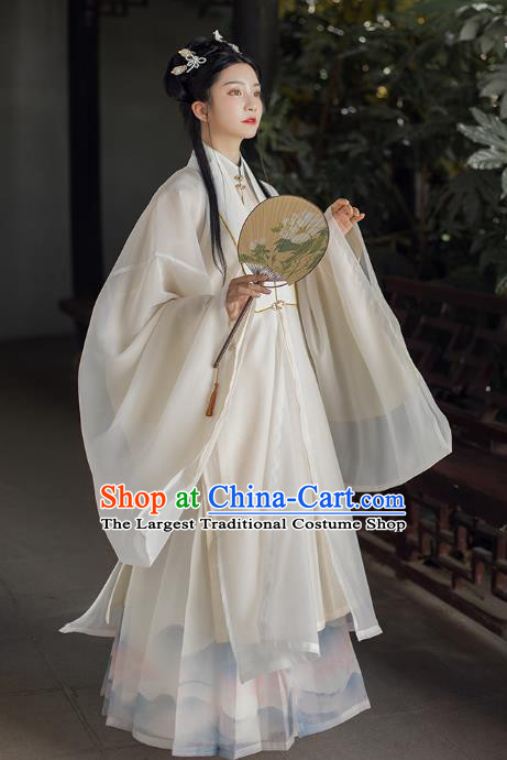 China Ming Dynasty Noble Princess Hanfu Dress Traditional Ancient Royal Infanta Historical Clothing Complete Set