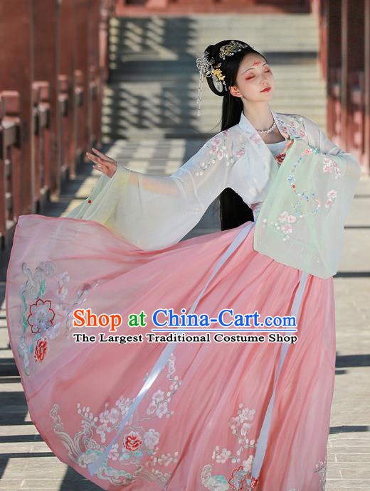 China Ancient Princess Hanfu Dress Traditional Tang Dynasty Royal Infanta Historical Clothing Complete Set