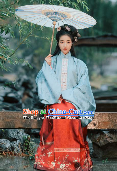 Chinese Ancient Princess Hanfu Dress Traditional Ming Dynasty Nobility Lady Embroidered Costumes for Women