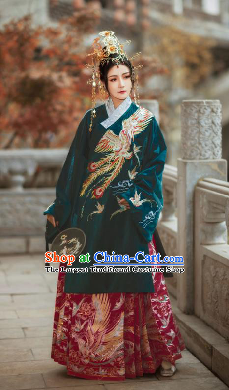 Chinese Traditional Ming Dynasty Court Lady Hanfu Dress Ancient Imperial Concubine Embroidered Costumes for Women