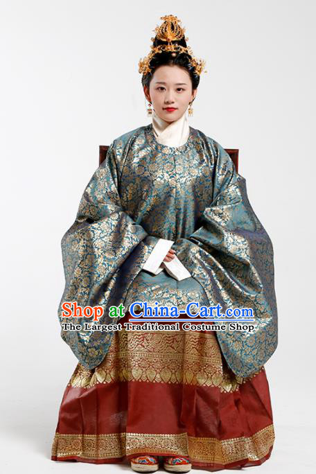 Traditional Chinese Ancient Patrician Countess Silk Blouse Ming Dynasty Duchess Historical Costumes for Women