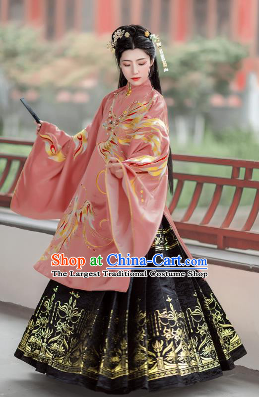 Chinese Traditional Ming Dynasty Nobility Lady Hanfu Dress Ancient Royal Infanta Costumes for Women
