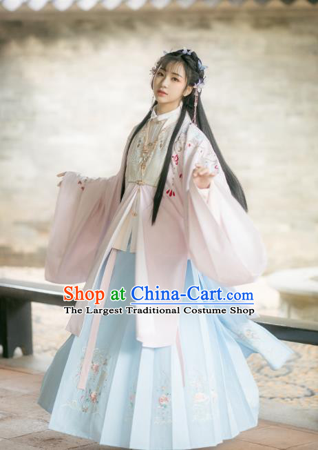 Chinese Traditional Ming Dynasty Court Lady Hanfu Dress Ancient Royal Infanta Historical Costumes for Women